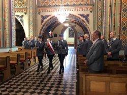 Policjanci podczas mszy świętej
